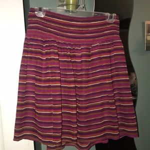Flowy breathable striped skirt.